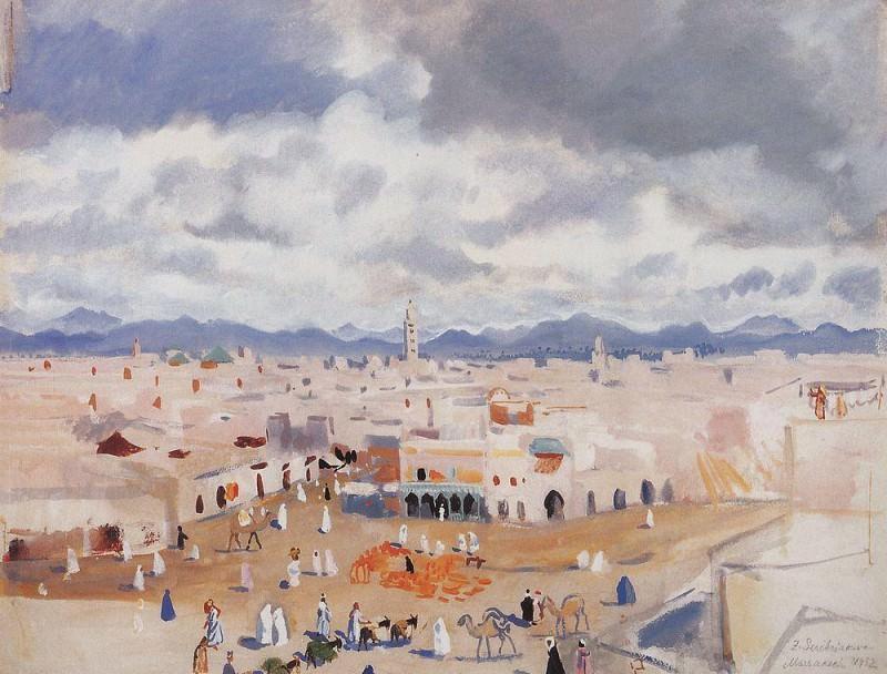 Марокко Марракеш. Зинаида Евгеньевна Серебрякова