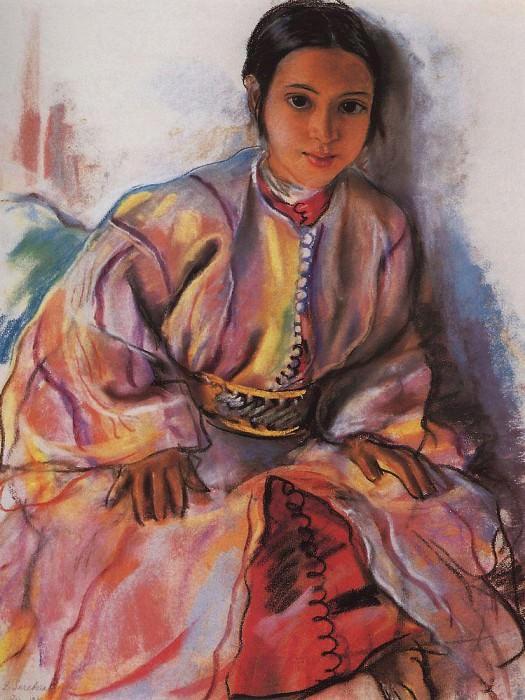 Девочка в розовом. Зинаида Евгеньевна Серебрякова