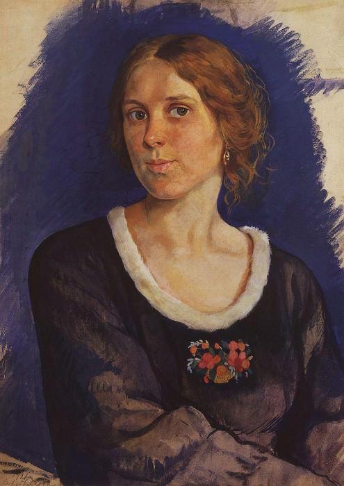 Portrait of A. I. Kunina. Zinaida Serebryakova