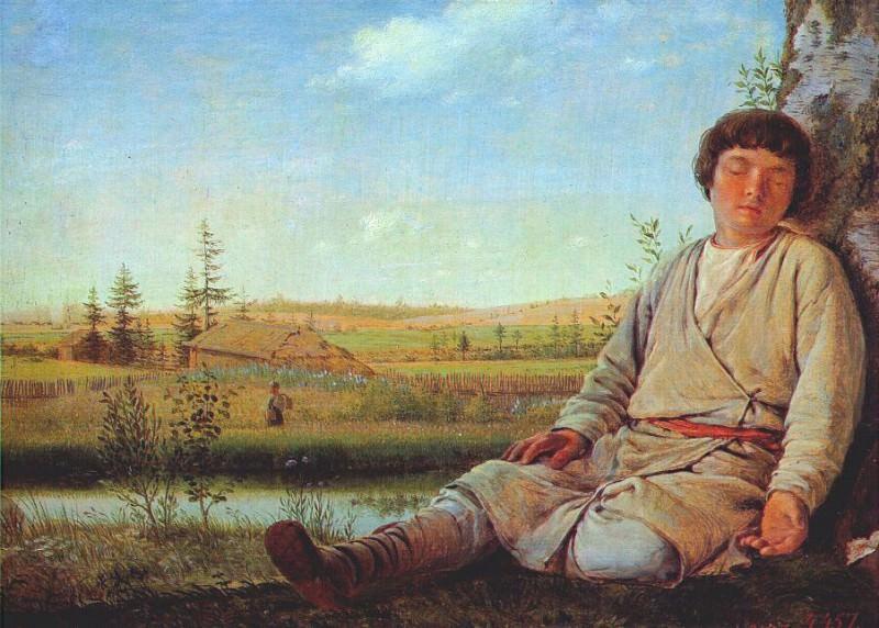 Sleeping Shepherd. Alexey Venetsianov