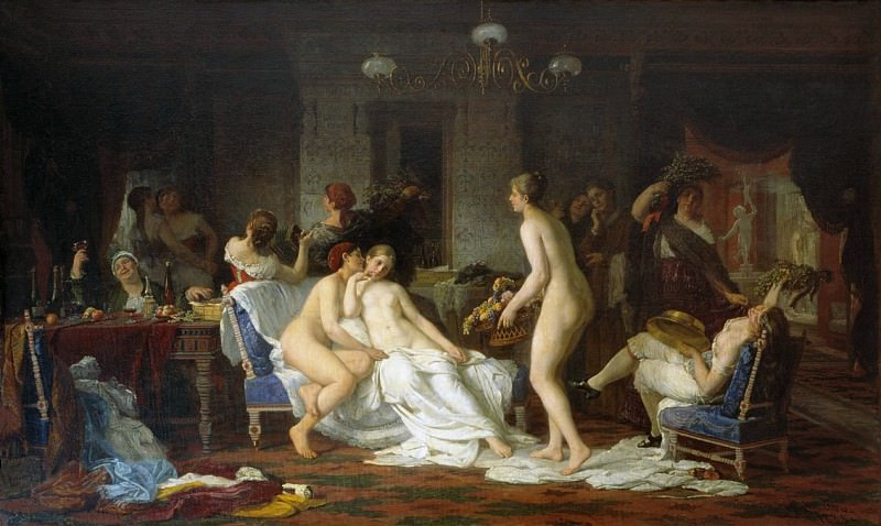 Hen-party in the bath. Firs Sergeevich Zhuravlev