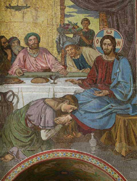 Христос у фарисея. Firs Sergeevich Zhuravlev