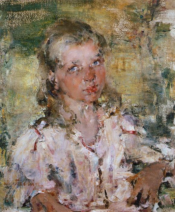 Девочка. Этюд (1910-е). Nikolay Feshin