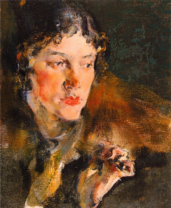 Портрет жены (1920-е). Nikolay Feshin
