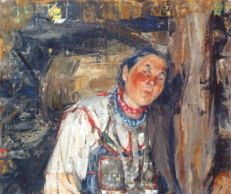 Сваха (этюд к картине Черемисская свадьба) (1908). Nikolay Feshin