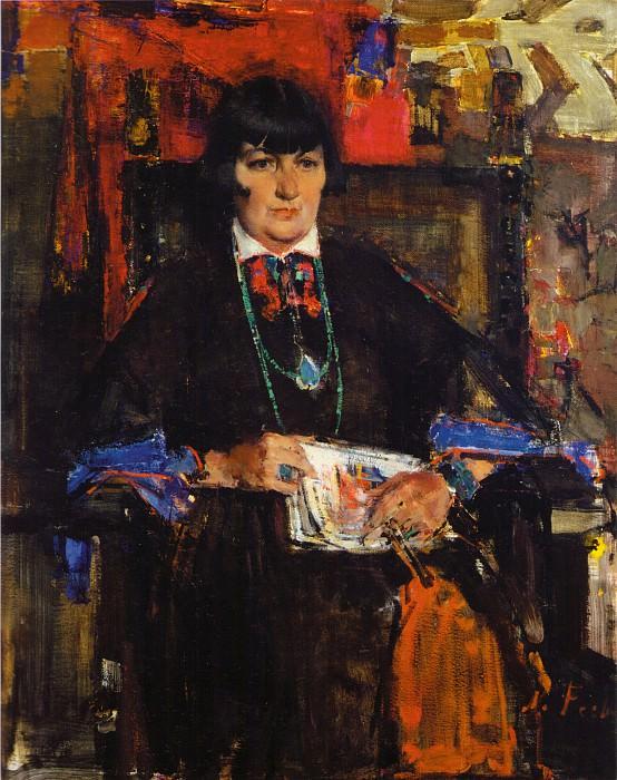 Портрет Мэйбл Додж Люхан (1927-1933). Nikolay Feshin