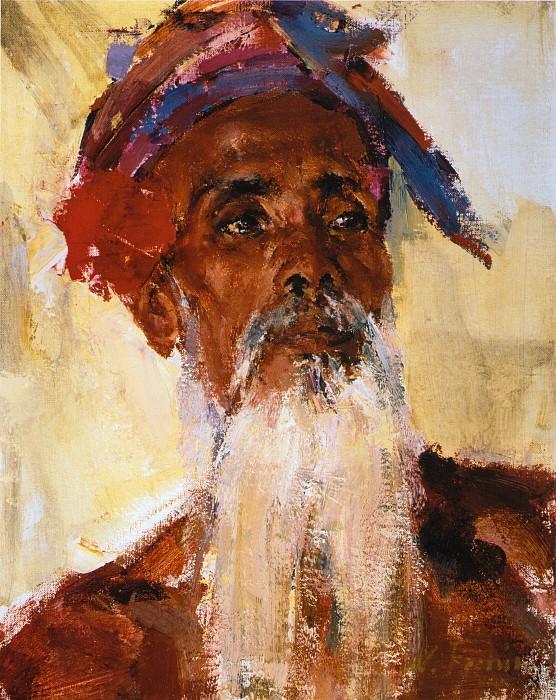 Старик с острова Бали (После 1938). Николай Иванович Фешин