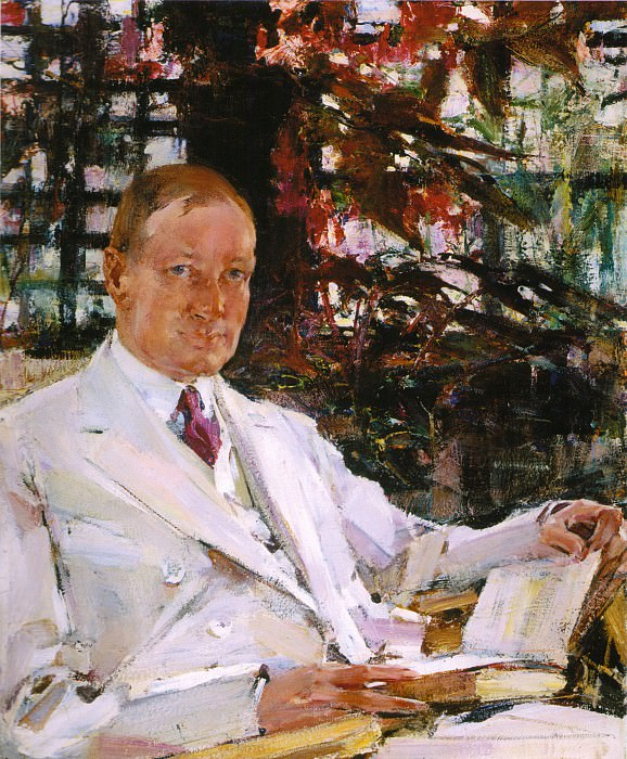 Портрет Джона Бёрнэма (1925). Nikolay Feshin