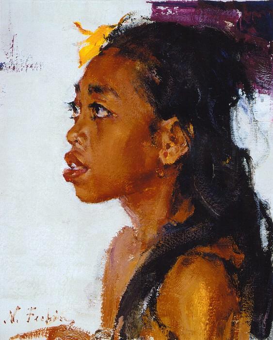 Девочка с острова Бали (1938). Николай Иванович Фешин