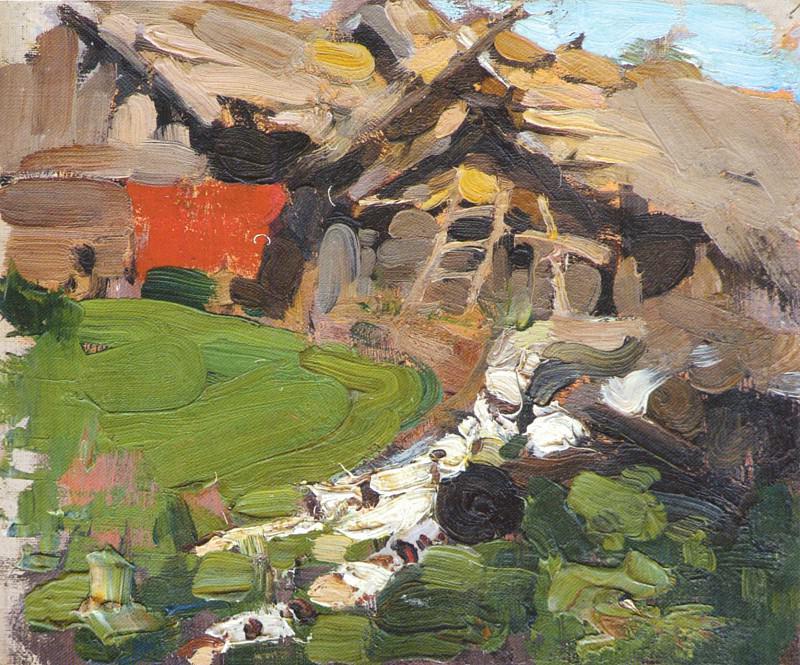 Сельский пейзаж. Этюд (1900-е) 2. Nikolay Feshin