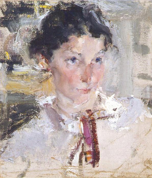 Портрет Н.Н.Кротовой. Этюд (1923). Николай Иванович Фешин