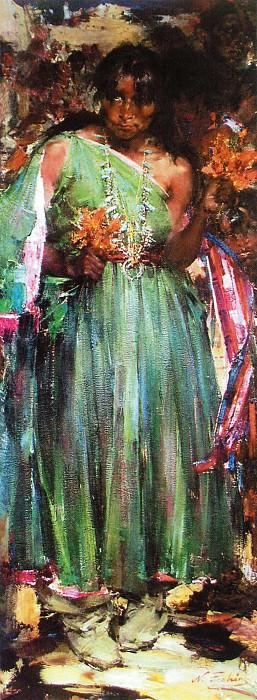 Танцующая кукурузный танец (1927—1933). Николай Иванович Фешин