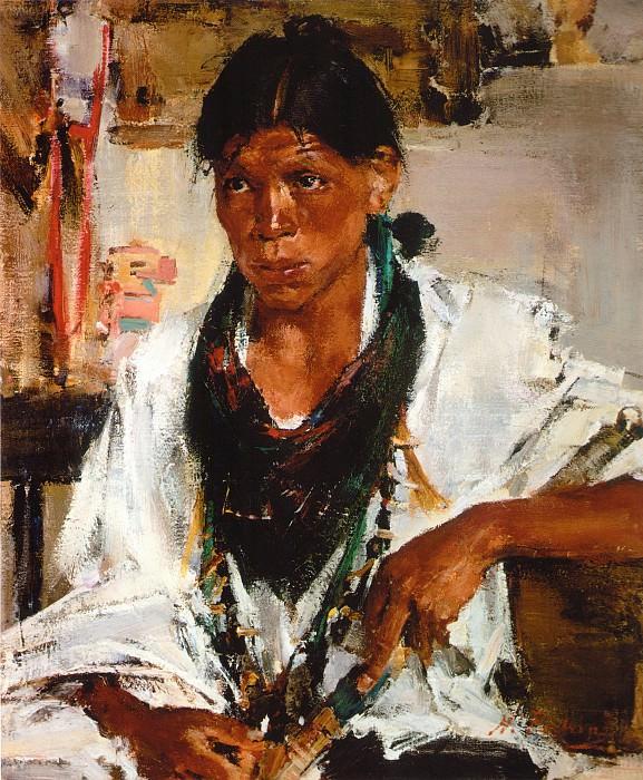 Индейский мальчик (1927—1933). Николай Иванович Фешин