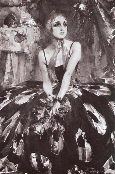 Портрет балерины В.П.Фокиной (1925). Николай Иванович Фешин