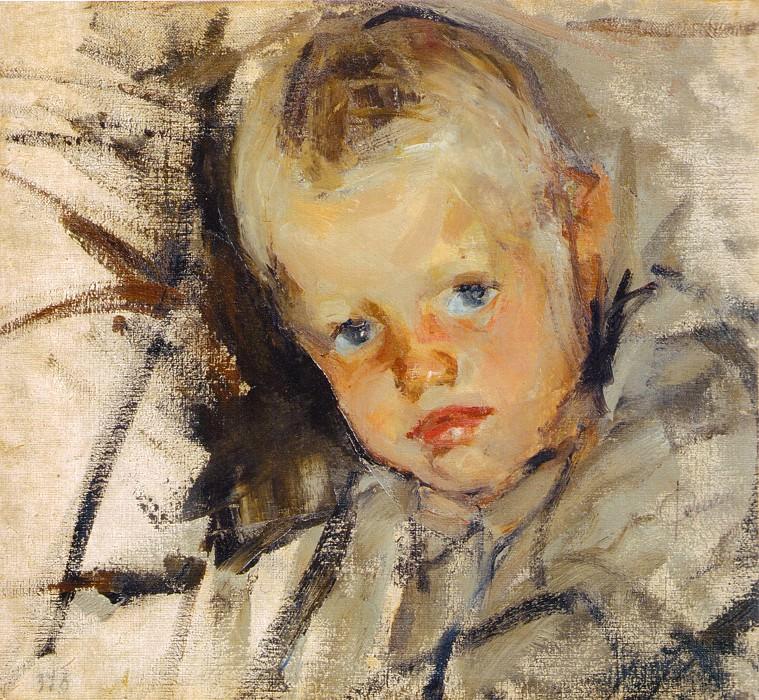 Портрет Алеши Теплова (1904). Nikolay Feshin