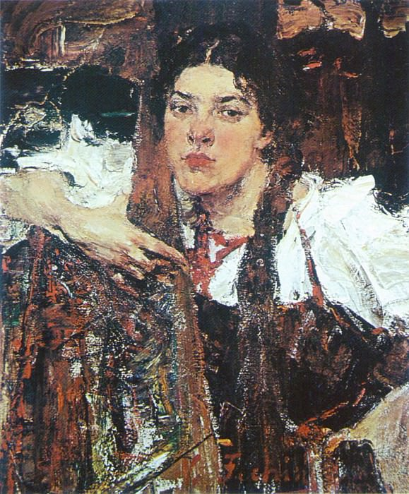 Александра (в сарафане). Николай Иванович Фешин