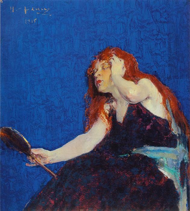 Женщина с зеркалом (1915). Nikolay Feshin