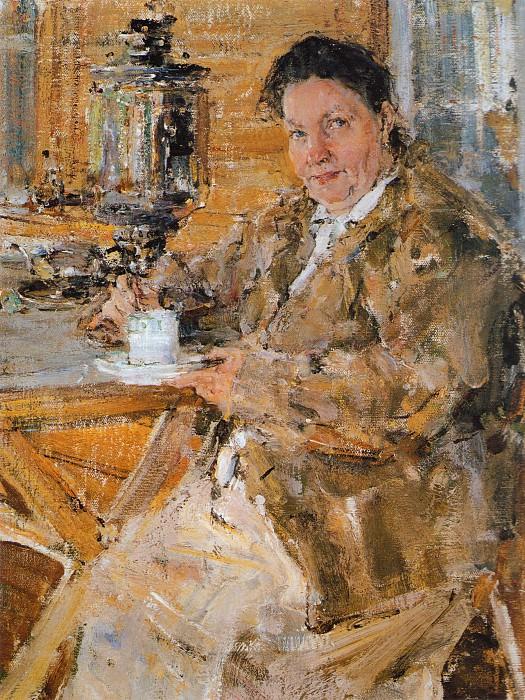 Портрет Прасковии Фешиной (матери художника, урожденной Чистовой) (1916).jpg. Николай Иванович Фешин