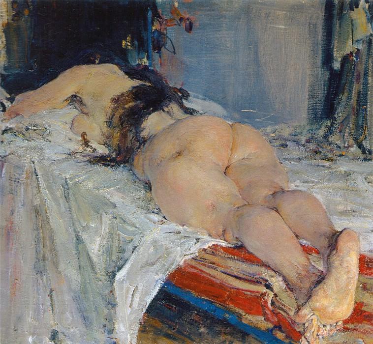Натурщица (1910-е). Nikolay Feshin