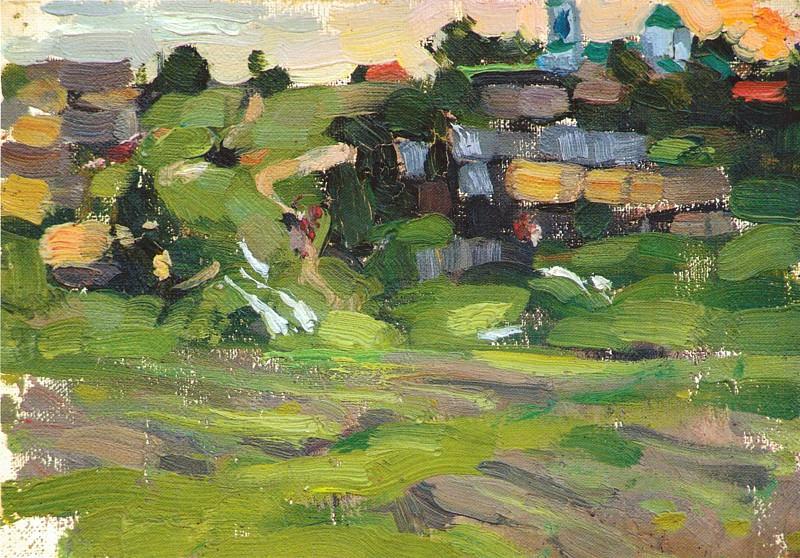 Сельский пейзаж. Этюд (1900-е). Nikolay Feshin
