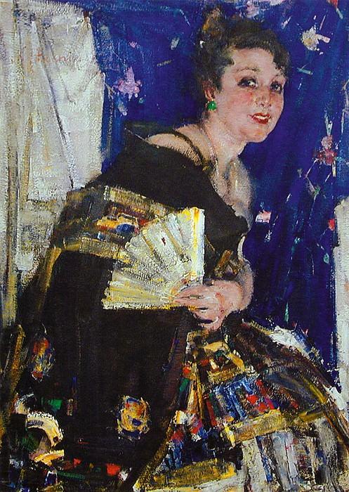 Русская певица (Портрет Е.И.Хатаевой) (Ок.1924). Nikolay Feshin