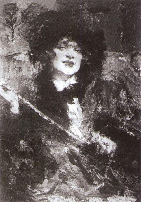 Портрет m-lle Подбельской (1912). Николай Иванович Фешин