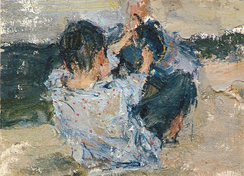 Мальчик со спины. Этюд к картине Обливание (1911—1914). Nikolay Feshin