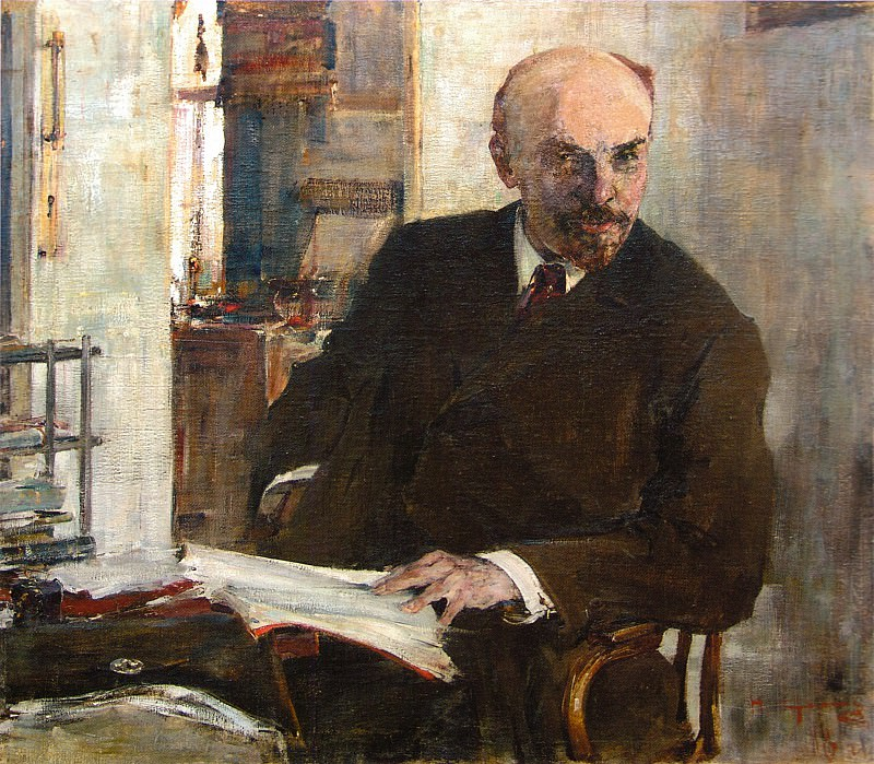Портрет В.И.Ленина (1918). Nikolay Feshin