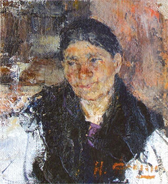 Портрет пожилой женщины (1916). Nikolay Feshin