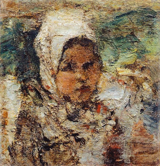 Головка девочки. Этюд (1912). Николай Иванович Фешин