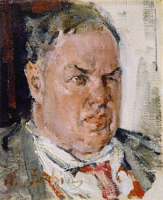 Портрет Д.Д.Бурлюка. Этюд (1923). Nikolay Feshin