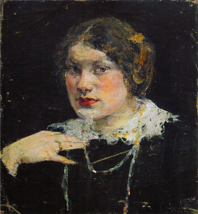 Портрет девушки (Екатерина Антропова) (1910-е). Nikolay Feshin