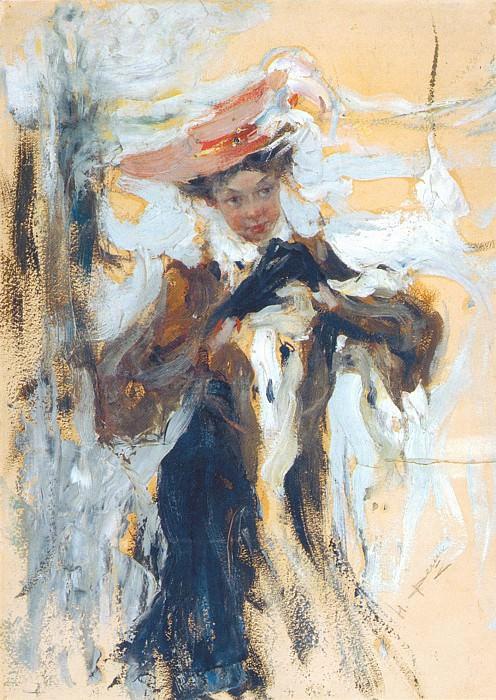Дама в черном (Вторая пол. 1910-х). Николай Иванович Фешин