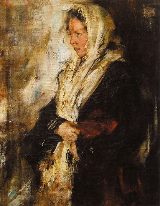 Портрет девушки (Внаем) (1900-е до 1908). Nikolay Feshin