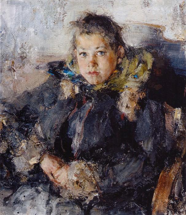 Портрет девочки (1910). Nikolay Feshin