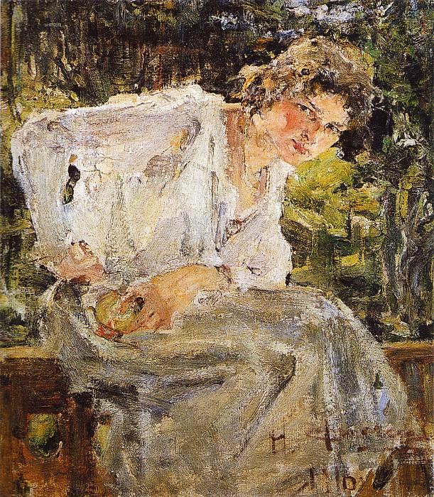 Портрет молодой женщины (Натальи Подбельской) (1916). Nikolay Feshin