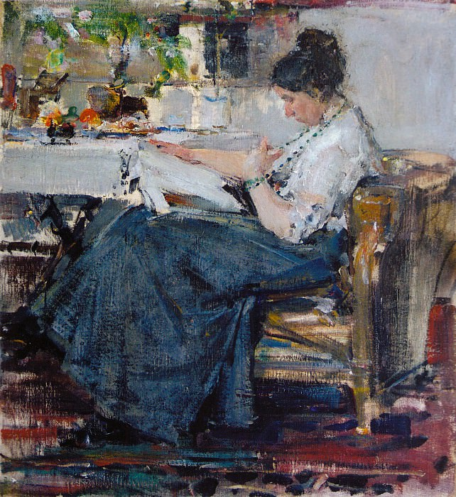 Портрет Н.М.Сапожниковой. Этюд (1915) 2. Николай Иванович Фешин