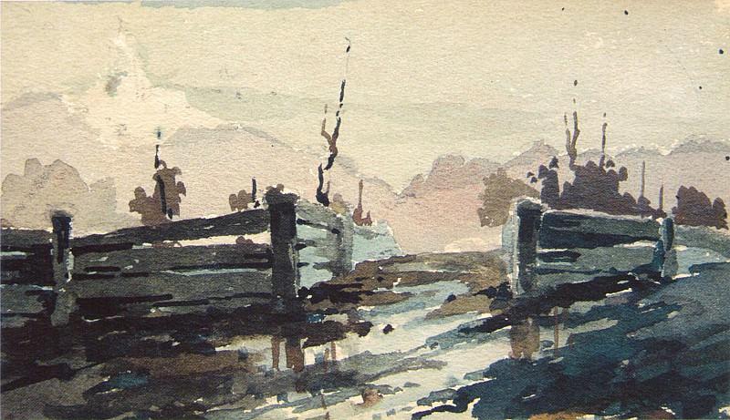 Распутица (1900-е). Николай Иванович Фешин