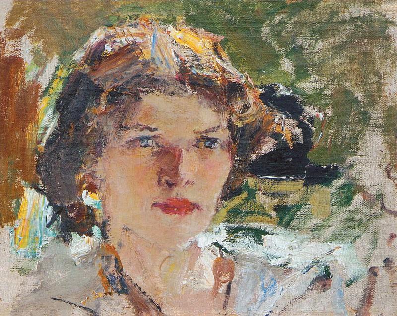 Женская головка (Портрет Натальи Подбельской). Этюд (1910). Nikolay Feshin