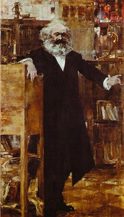 Портрет Карла Маркса (1918). Nikolay Feshin
