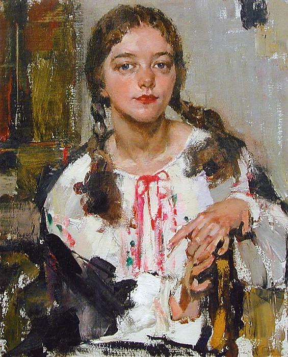 Ия в крестьянской рубахе (1933). Nikolay Feshin