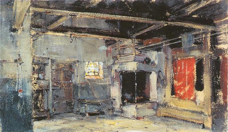 Интерьер избы (1921). Nikolay Feshin
