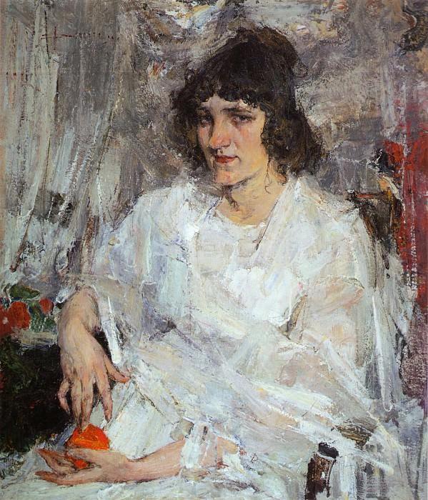 Портрет Ульяны Китаевой (1912). Николай Иванович Фешин