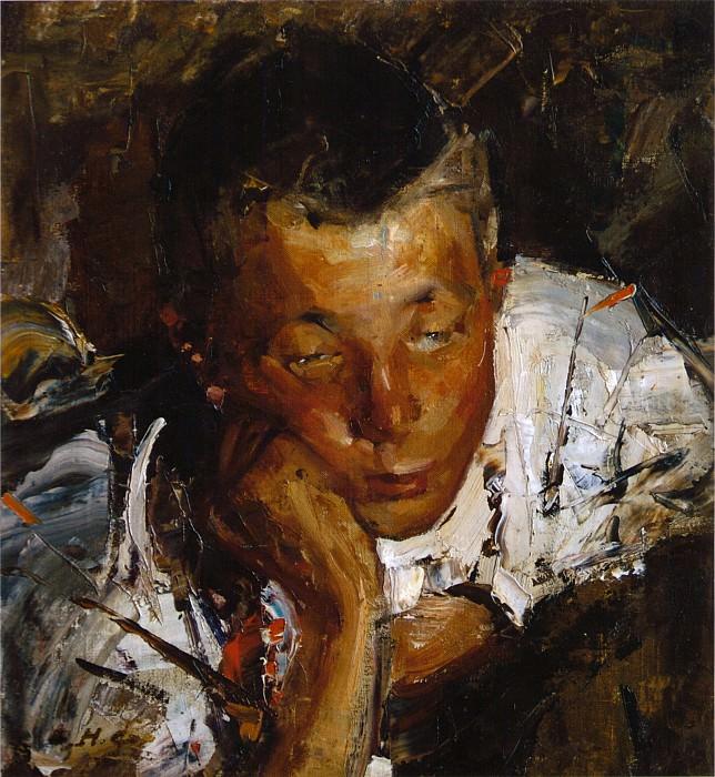 Портрет чувашского мальчика (1900-е). Nikolay Feshin