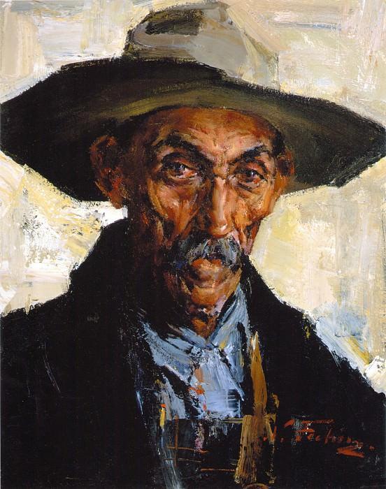 Старик в серой шляпе (1934—1955). Николай Иванович Фешин