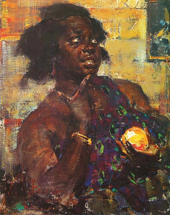 Негритянка с апельсином (1923). Nikolay Feshin