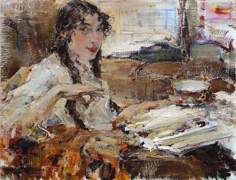 Портрет Т.А.Поповой (1917). Николай Иванович Фешин