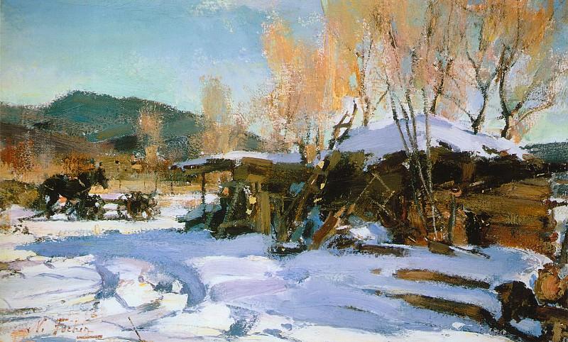 Зимний пейзаж. Таос (1927—1933). Николай Иванович Фешин