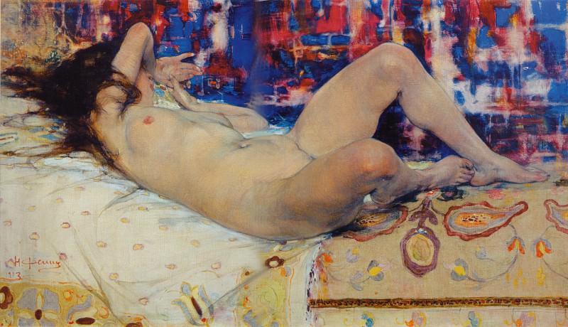 Натурщица (1913). Nikolay Feshin