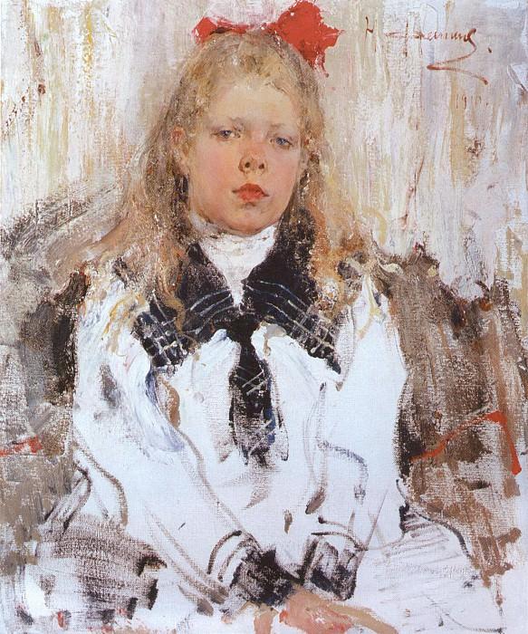 Портрет Нины Белькович (1910). Nikolay Feshin